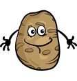 cute potato vegetable cartoon vector image vector image