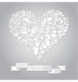 decoration heart 05 vector image vector image