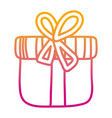 degraded line close present box with ribbon bow vector image vector image