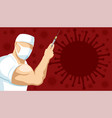 doctor with a syringe in his hand vector image