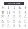 dress line icons signs set outline vector image vector image
