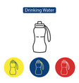 drinking water fit icons vector image vector image