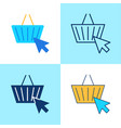 e-commerce icon set in flat and line style vector image