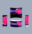 exhibition stand mock-up design with templates vector image vector image