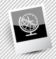 globe and clock vector image vector image