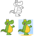 Happy Crocodile Collection vector image vector image