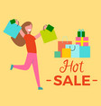 hot sale woman raising hands vector image