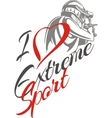 I love extreme sport Paintball player vector image