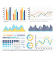 infographics and graphic charts data presentation vector image vector image
