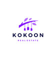 kokoon house logo icon vector image vector image