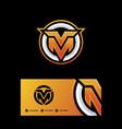 letter m-v template vector image