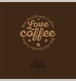 love coffee bean logo coffee emblem vector image