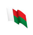 madagascar flag vector image vector image