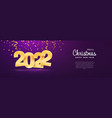 merry christmas and happy new year 2022 web vector image vector image