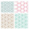 mesh geometric seamless pattern in modern korean vector image