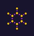molecule logo element vector image