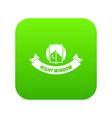 night window icon green vector image