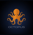 octopus design on dark blue background aquatic vector image vector image