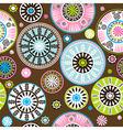 Oriental colored floral pattern vector image vector image