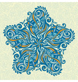 Ornate floral design element vector image vector image