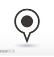 pin location flat icon sign pin location vector image