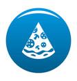 pizza slice icon blue vector image vector image