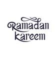 ramadan kareem handwritten lettering vector image vector image