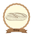 retro bakery product vector image vector image