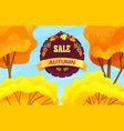 sale autumn promo action discounts time offer vector image
