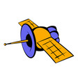 satellite communications icon icon cartoon vector image vector image