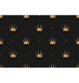 Seamless gold pattern with king crowns on a dark vector image vector image