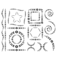 set decorative elements and brush vector image vector image