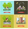 set of places where you can cycling vector image vector image