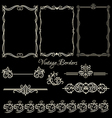 Set of vintage borders and elements vector image vector image