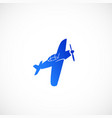 simple fat style airplane icon or symbol vector image