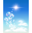 sky clouds and bubbles vector image vector image