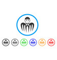 spectre boy rounded icon vector image vector image