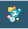 Sport composition of icons vector image vector image