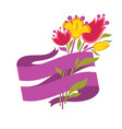 spring greeting baneer with space for text vector image vector image