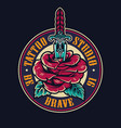 tattoo studio colorful round logo vector image vector image