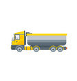 truck tractor for grit transportation side view vector image vector image