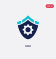 two color gear icon from gdpr concept isolated vector image