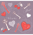 Valentine romantic love card with key to heart vector image vector image
