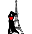 romance paris silhouette vector | Price: 1 Credit (USD $1)