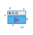 video icon design vector image