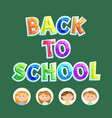 volume letters back to school children vector image
