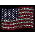 waving usa flag stylized composition of lady shoe vector image vector image