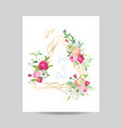 wedding invitation floral template save the date vector image vector image