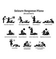 what to do during a seizure list seizure vector image vector image