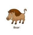 Forest animal boar cartoon for children vector image